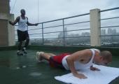 4 х 100, но не олимпийска щафета, а супер каляващ мускулите кросфит